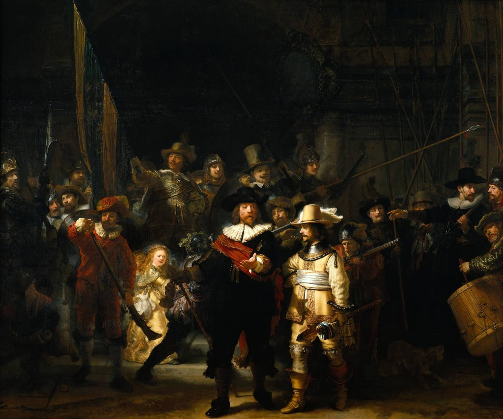 """The Night Watch"" by Rembrandt van Rijn. (1642)"